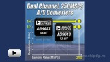 Watch video: Double ADC Model AD9643 by Analog Devices