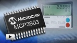 Watch video: MCP3903 high-precision 6-channel delta-sigma ADC 1624 bits produced by Microchip Company
