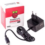 Official Raspberry Pi 4 Power Supply Black, Блок питания для Raspberry Pi 4, 5.1В, 3A, USB-C (вилка EU) блок питания
