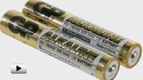 Watch video: AAAA batteries