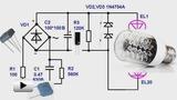 Смотреть видео: Простая схема источника питания светодиодной лампы