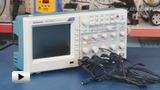 Смотреть видео: TDS2024C осциллограф цифровой, 4 канала x 200МГц