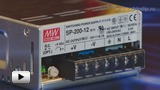 Смотреть видео: SP-200-12 Блок питания, 12В, 16.7А,200Вт