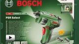 Смотреть видео: Bosch.  Аккумуляторный шуруповёрт с встроенным барабаном с битами PSR Select