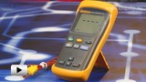 Смотреть видео: Fluke 51-II, Измеритель температуры с термопарой -250-1370C°