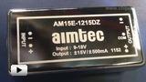 Смотреть видео: DCDC преобразователи серии AM15E-DZ  компании AIMTEC