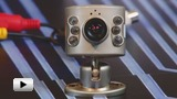 Смотреть видео: Видеокамера цветная, 380 тв.линий PAL
