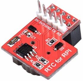 Фото 1/4 Raspberry Pi RTC Expansion Module v1.1, Часы реального времени DS1307 для Raspberry Pi