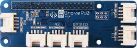 Фото 1/4 GrovePi Zero (GrovePi0 V1.4), Плата расширения для подключения модулей Grove к Raspberry Pi