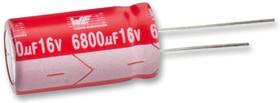 860020780024, Электролитический конденсатор, 820 мкФ, 63 В, Серия WCAP-ATG5, ± 20%, Радиальные Выводы, 16 мм
