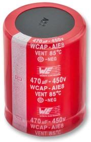 861221485016, Электролитический конденсатор, фиксация защелкой, 270 мкФ, 450 В, Серия WCAP-AIE8, ± 20%