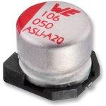 865080649011, SMD электролитический конденсатор, Radial Can - SMD, 33 мкФ, 50 В ...