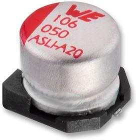 865080453012, SMD электролитический конденсатор, Radial Can - SMD, 150 мкФ, 25 В, Серия WCAP-ASLI