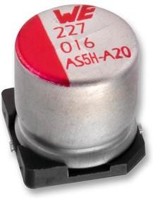 865230557007, SMD электролитический конденсатор, Radial Can - SMD, 220 мкФ, 35 В, Серия WCAP-AS5H