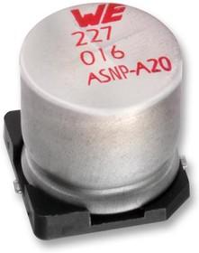 865250440002, SMD электролитический конденсатор, Radial Can - SMD, 4.7 мкФ, 25 В, Серия WCAP-ASNP