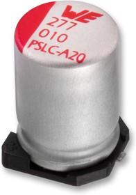 875075155009, Конденсатор, 820 мкФ, 6.3 В, Radial Can - SMD, Серия WCAP-PSLC, 0.008 Ом, 2000 часов при 105°C