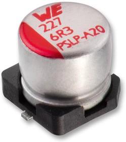Фото 1/2 875105544001, Polymer Aluminium Electrolytic Capacitor, 10 мкФ, 25 В, Radial Can - SMD, Серия WCAP-PSLP, 0.03 Ом