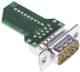 1688379, Conn D-Subminiature Module M 9 POS RA