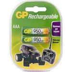 Комплект аккумуляторов GP АAА (LR03) 2 шт. (95AAAHC-C2)