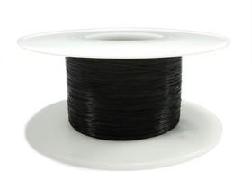 Миниатюрный провод многожильный в тефлоновой изоляции 7 х 0,05 мм (черный)