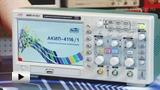 Смотреть видео: АКИП 41161, Осциллограф цифровой, 2 канала x 60МГц