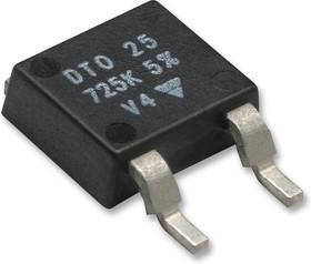 DTO025CR0500JTE3, SMD чип резистор, толстопленочный, 0.05 Ом, 200 В, TO-252 (DPAK), 25 Вт, ± 5%, Серия DTO25