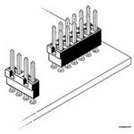 Фото 2/2 69145-210, Low Profile Jumper , Double Row, Multi Position Busbar , 10 Positions, 2.54mm (0.100in) Pitch
