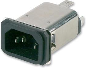 15EJS1, IEC фильтр, 250 В AC, 15 А, От Электромагнитных Помех, от Радиопомех, Быстрое Соединение, 86 мкГн
