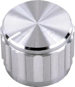 MC21030, Ручка, Круглый Вал, 6.4 мм, Алюминий, Круглая Гофрированная с Индикаторной Линией, 20 мм