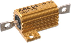 HS10 10R J, Резистор, Axial Leaded, 10 Ом, 10 Вт, 160 В, ± 5%, Серия HS, Проволока