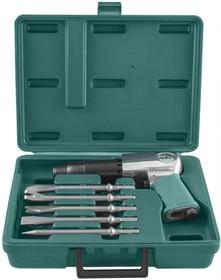 Фото 1/3 JAH-6833HK Набор пневматического инструмента молоток и комплект насадок, 8 пр. 47496