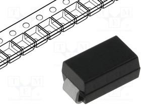 US1J-F3, Диод импульсный, SMD, 600В, 1А, 75нс, Упаковка бобина,лента