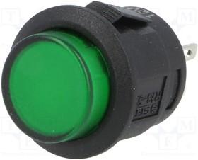 R13523BL05BGL1, Переключатель кнопочный 2 SPST-NO 1, зеленый 50мОм