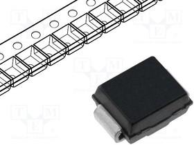 SMBJ24A-13-F, Diode TVS Single Uni-Dir 24V 600W 2-Pin SMB T/R