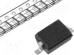 SD05.TCT, ESD Suppressor Diode TVS Uni-Dir 5V 2-Pin SOD-323 T/R