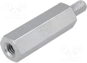 228X10, Дистанцирующая стойка с резьбой; Внутр.резьба: M5; 10мм; сталь