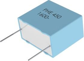 PHE450TB5100JB16R17, Пленочный конденсатор, 0.01 мкФ, PP (Полипропилен), 2.5 кВ, Серия PHE450, ± 5%, Радиальные Выводы
