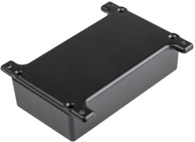 G0124FBK, ALUMINIUM BOX BLACK FLANGED 111X60X30