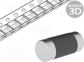 CSRV0207FTDU0220, Резистор thin film, 0207 melf, 22Ом, 1/2Вт, ±1%, O2,2x5,9мм