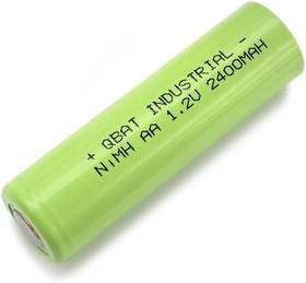 INDUSTRIAL H-AA2400, Аккумулятор промышленный NiMH(АА/HR06), 2400mAh 1.2В, 14,5*49,0mm(1шт.)