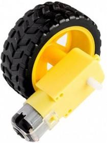 Фото 1/2 WHEEL-MOTOR, Колесо для робототехники d=65мм с мотором 1:48