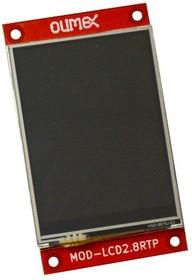 Фото 1/3 MOD-LCD2.8RTP, TFT дисплей 320×240px с сенсорной панелью с интерфейсом UEXT