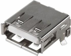 Фото 1/5 05-0007-9, Разъем гнездо USB A-1J на плату (50 шт.)