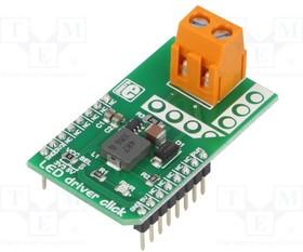 MIKROE-2676, Click board; LED; PWM; MCP1662; инструкция,макетная плата