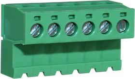 CTBP96HJ/6, Клеммная колодка типа провод к плате, инвертированный, 5.08 мм, 6 вывод(-ов), 28 AWG, 14 AWG