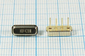 Фильтр на ПАВ 428МГц, полоса пропускания 17000кГц, в корпусе F11, SAW ф 428000 \пол\17000/30\F11\ 4P\HDF428WF11A\\SDE