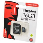 KINGSTON CANVAS Select microSD 16GB (Class 10) UHS-I с ...