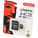 KINGSTON CANVAS Select microSD 64GB (Class 10) UHS-I с ...