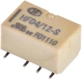 Фото 1/4 HFD4/12SR (IM06GR), Реле 12VDC 2пер. 2А/250VAC SMD