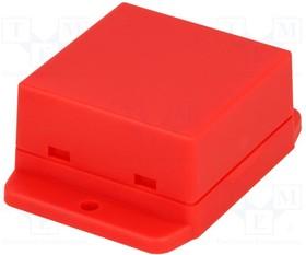 NUB505027RD, Корпус 50x50,4x27мм, ABS пластик, красный, с фланцами